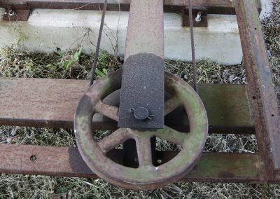 Sawmill pulleys and cables