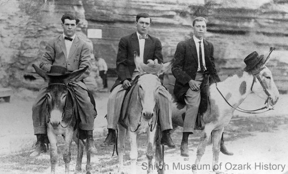 John Blackford (center) and friends, early 1900s.