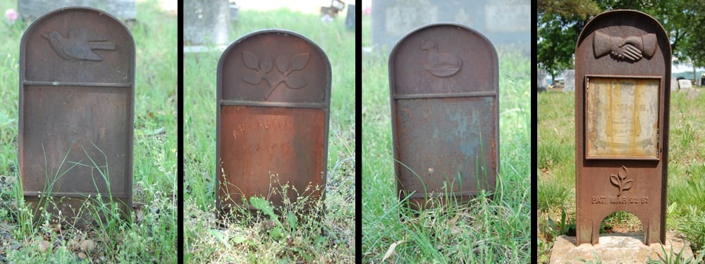 Cast Iron grave markers, Canaan Cemetery, Searcy County, Arkansas