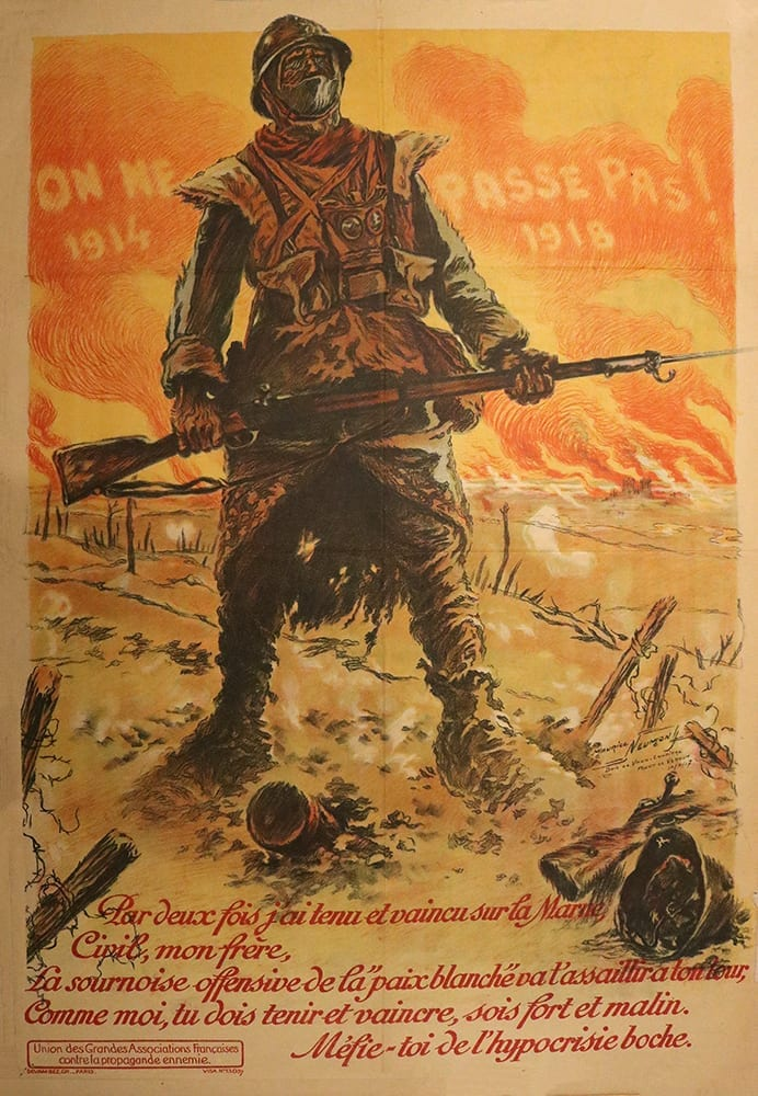 World War I poster from France