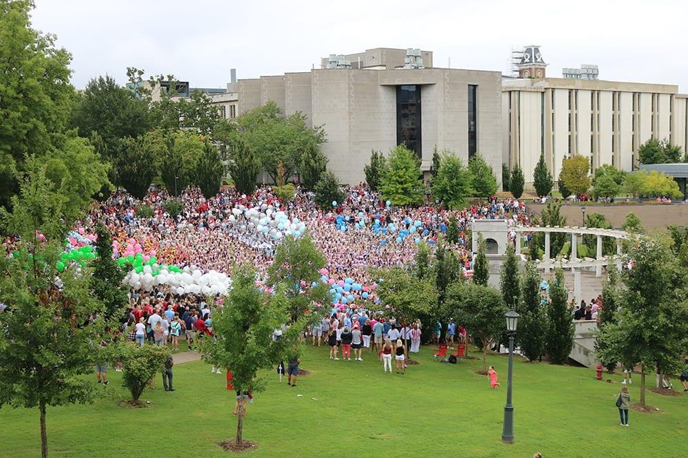 Bid Day at the University of Arkansas, 2019.