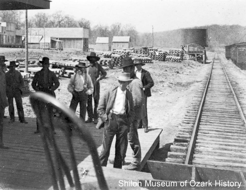 Alpena depot, Boone County, Arkansas,1902.