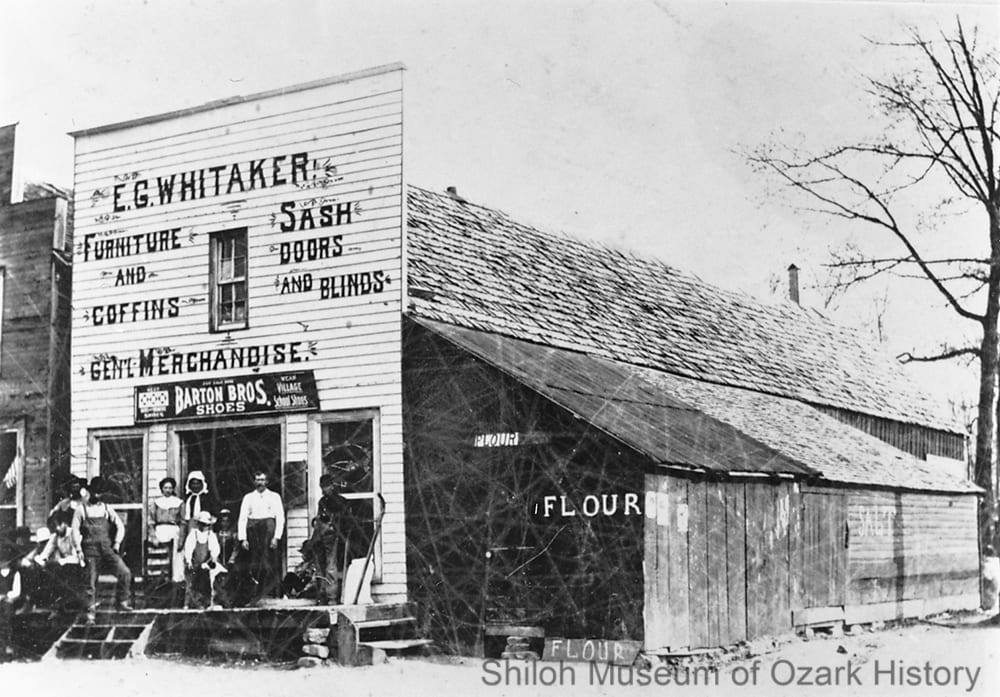 E. G. Whitaker General Store, Alpena, Boone County, Arkansas,about 1909.