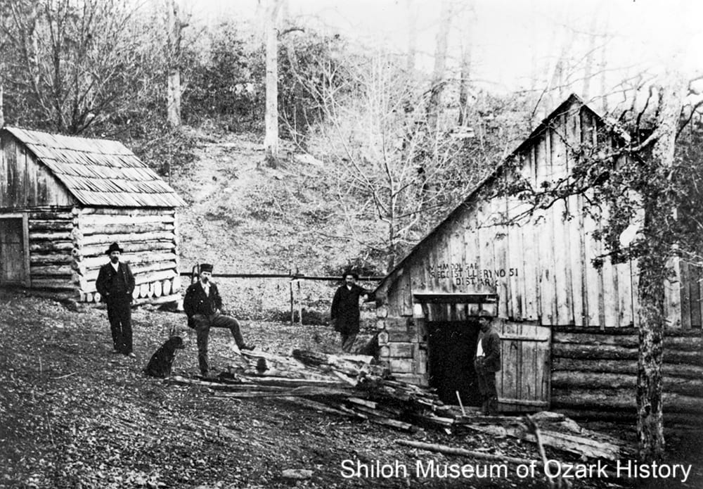 Legal still #51, near Hurricane Cave, Boone County, Arkansas, circa1900.