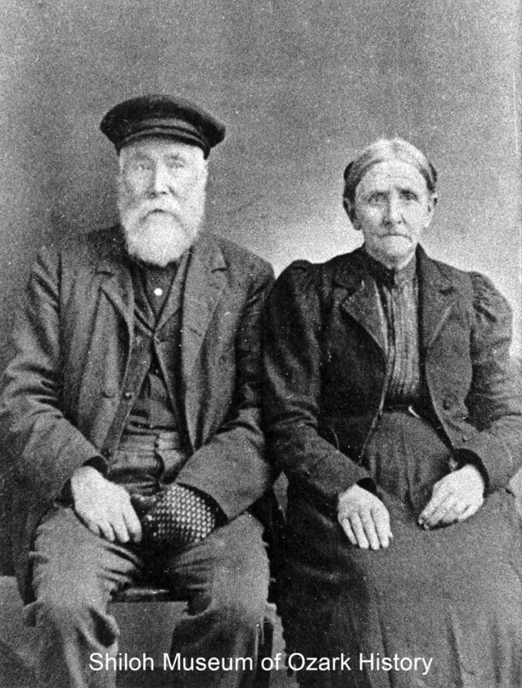 Richard and Nancy Hopper Capps, Boone County, Arkansas, early 1900s.