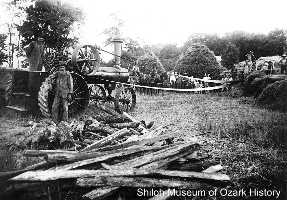 Threshing on the Vol Denton farm, Alpena, Boone County, Arkansas, June 30, 1911.