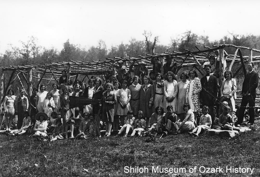 Members of the Herculean Society, Newton County Academy, Parthenon, Newton County, Arkansas, mid 1920s.