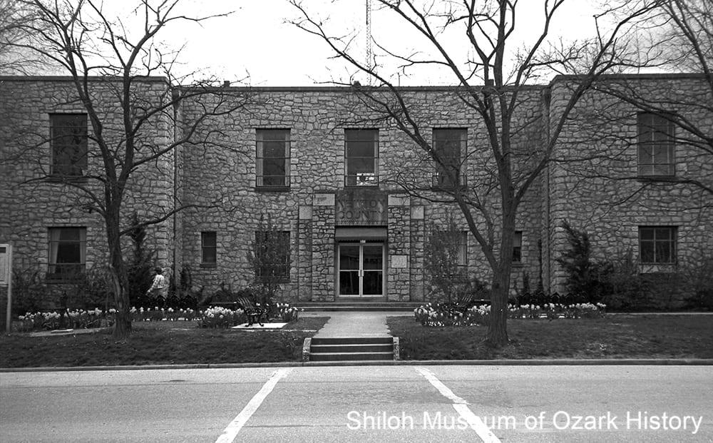 Newton County courthouse, Jasper, Arkansas, circa 1984.