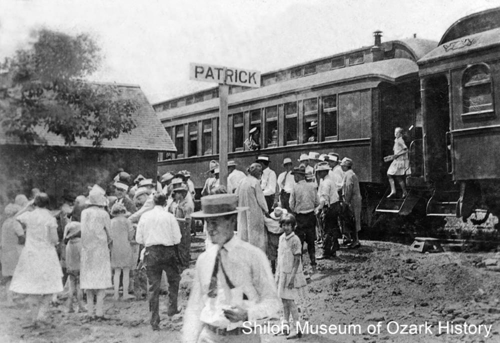 St. Louis and San Francisco passenger train, Patrick, Madison County, Arkansas,1920s-early 1930s.