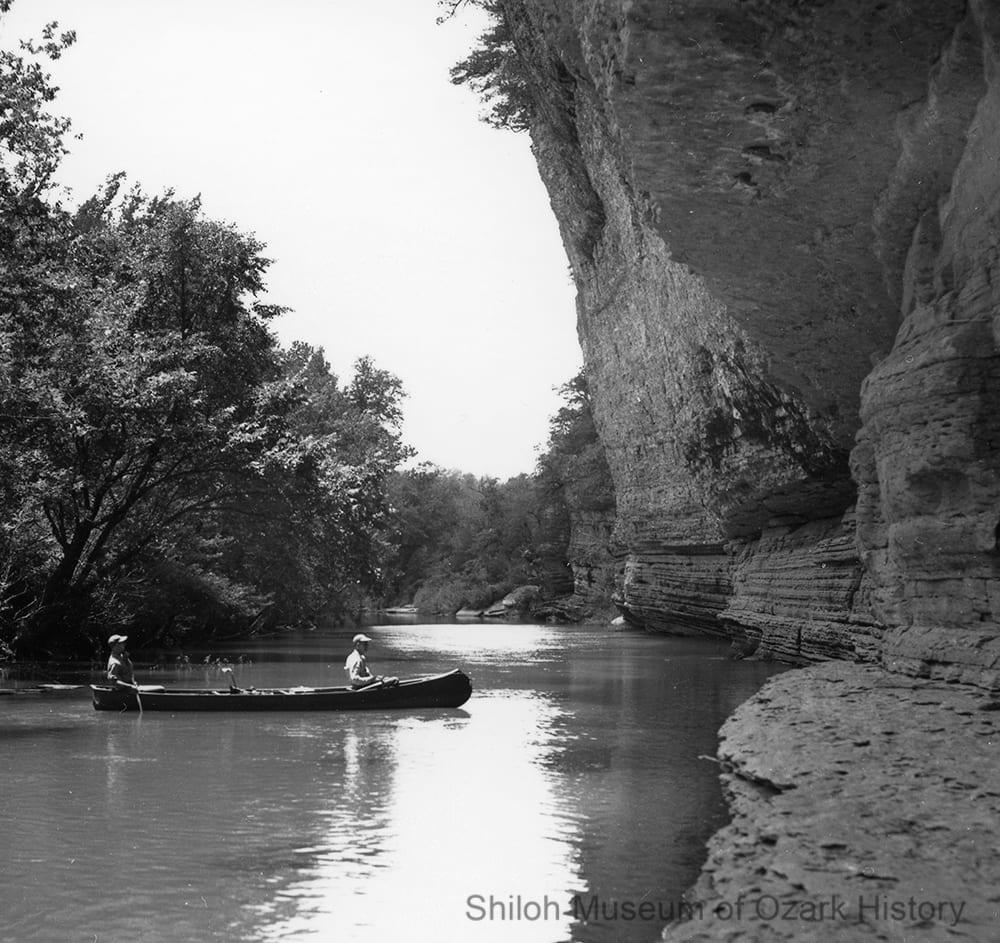 Kings River below Ray Branch, near Marble, 1950s.