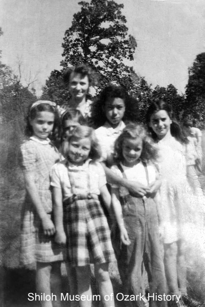 Whorton Creek School students and teacher, Madison County, Arkansas,1948.