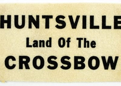 """Land of the Crossbow"" felt patch."