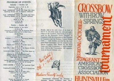 Crossbow Tournament invitation, 1967.
