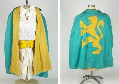 Crossbowette uniform worn by Judy Karnes, 1966-1967.
