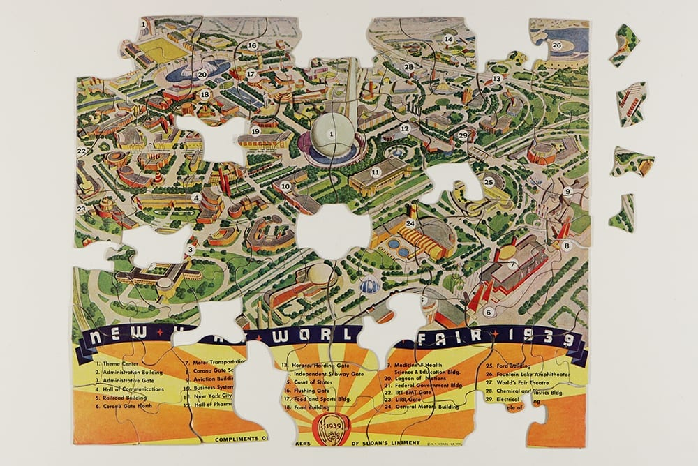 1939 Worlds' Fair jigsaw puzzle
