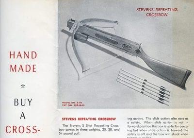 Stevens Crossbow Co. advertisement, circa 1960.