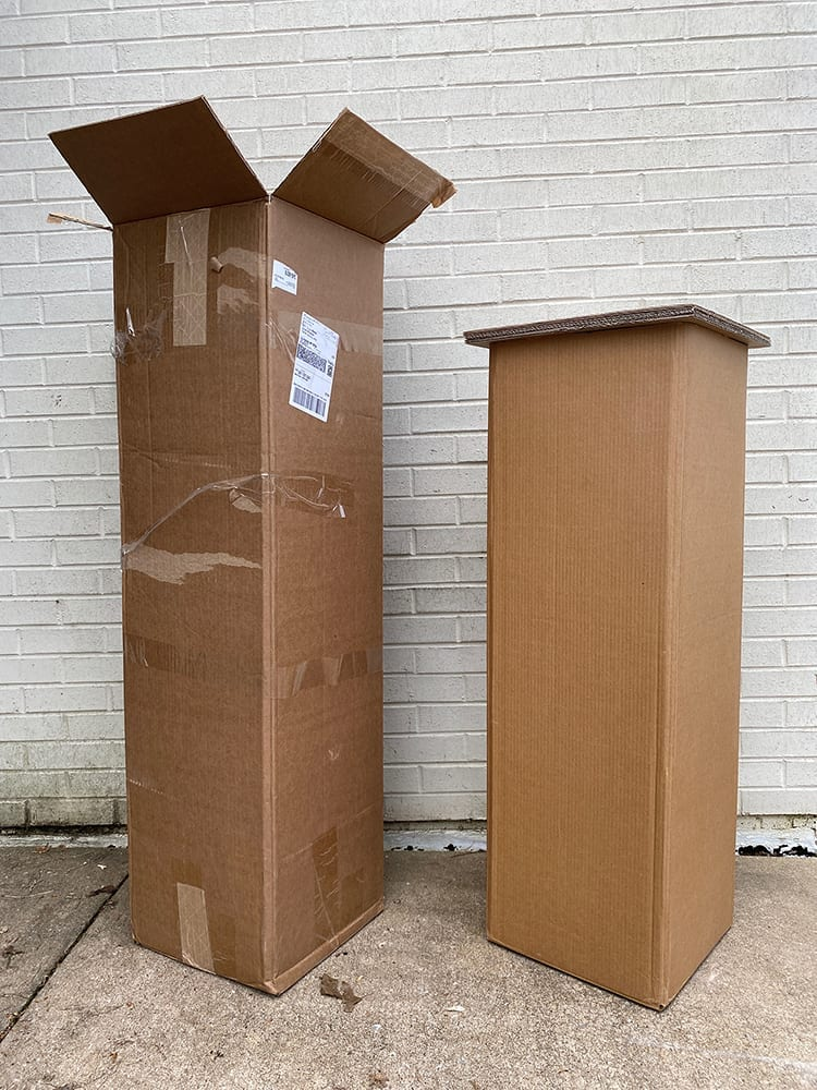 Cardboard pedestals