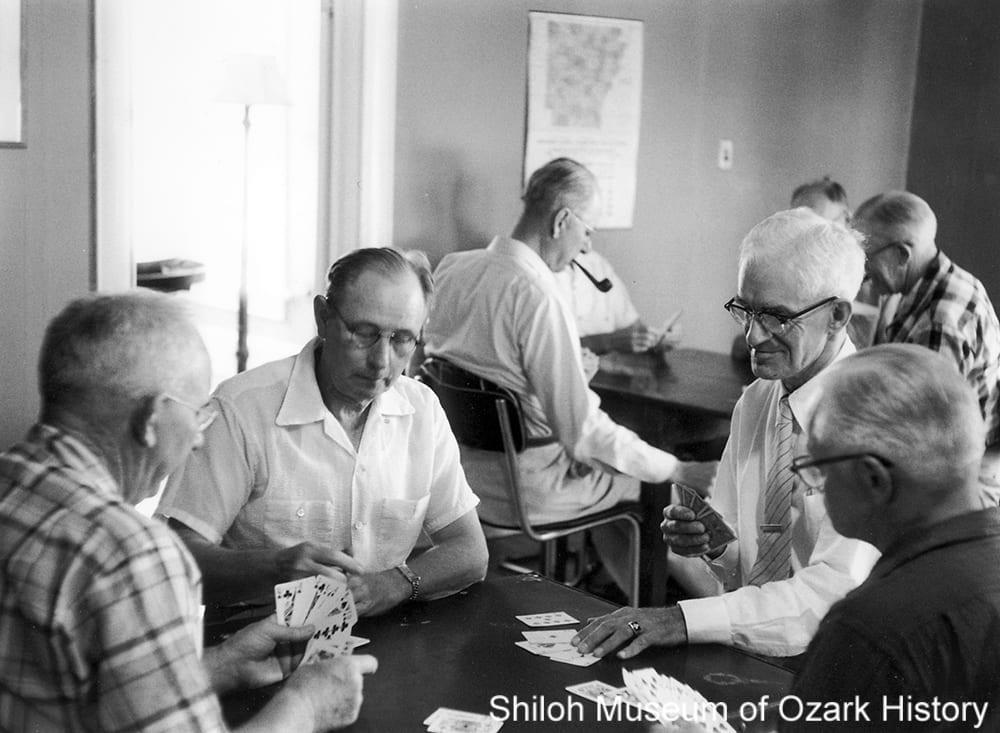 Men's Recreation Club, Rogers, Arkansas, September 1956.