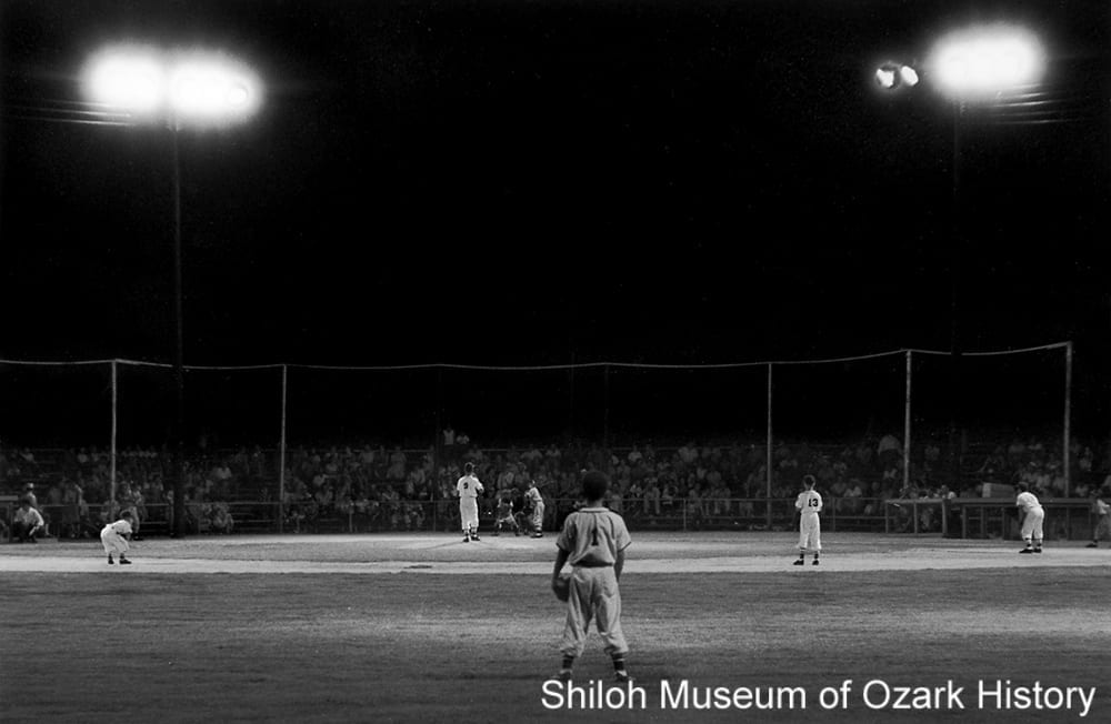 Little League game, Springdale, Arkansas, July 1956.