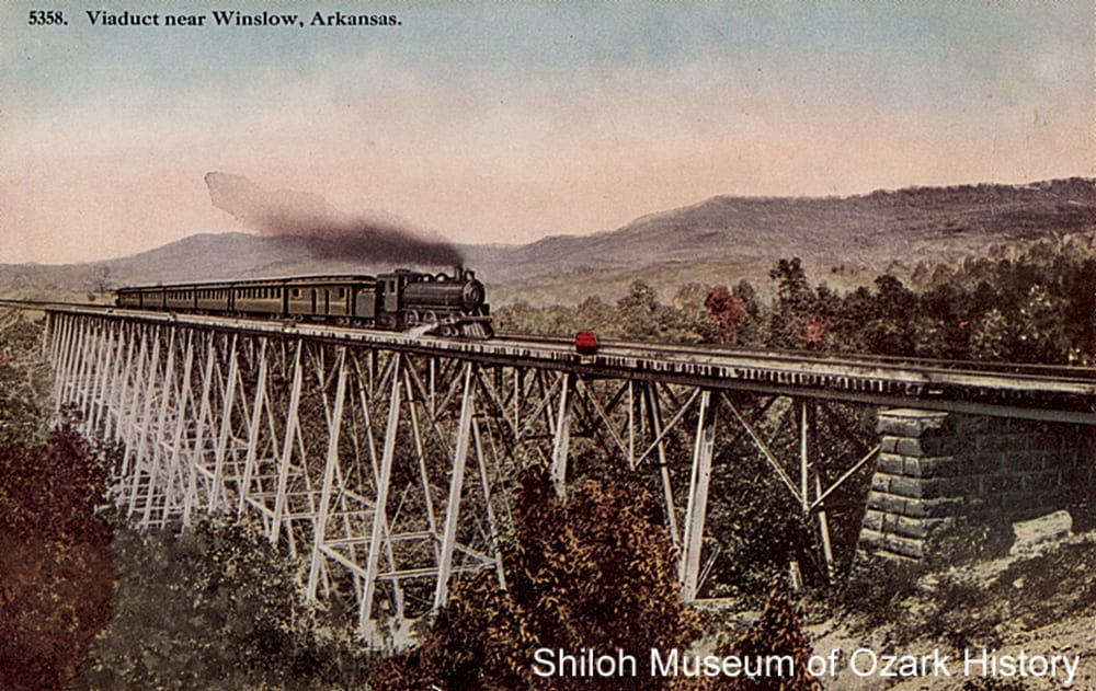 Frisco Railroad trestle #1, Winslow (Washington County, Arkansas), 1900s