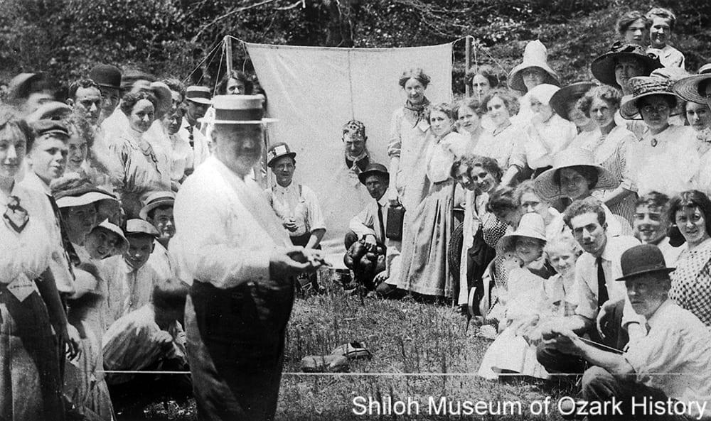 A ball-toss game at the Tontitown picnic, Tontitown, Arkansas, circa 1910.