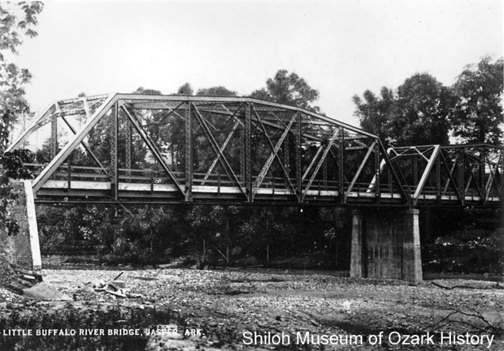 Arkansas Highway 7 bridge, Little Buffalo River, Jasper (Newton County, Arkansas), circa 1925.