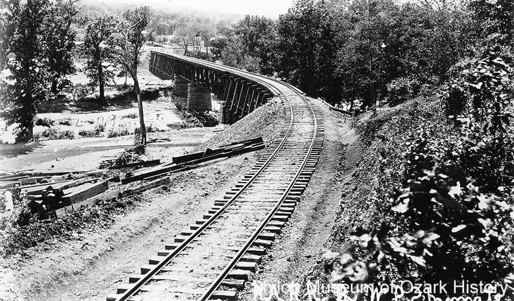 St. Louis & North Arkansas Railroad bridge, Long Creek, Alpena (Boone County, Arkansas), 1901.