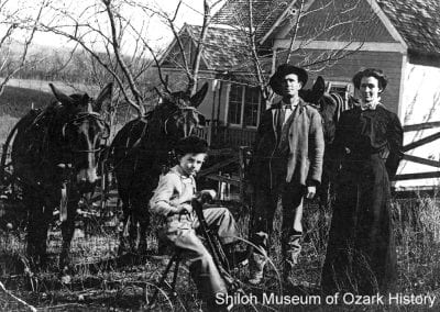 The William Ross Little family with their horses and tricycle, Summers, Arkansas, early 1900s.