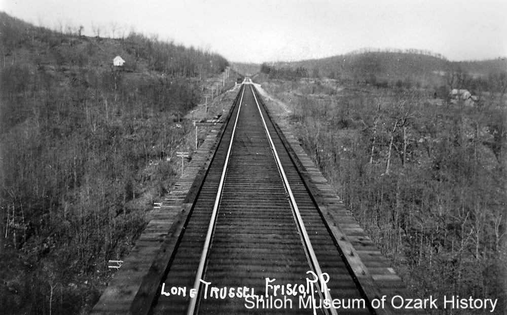 Frisco Railroad trestle #1, Winslow, Arkansas, circa1909.