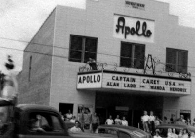 Apollo Theatre, Springdale, Arkansas, July 1950.