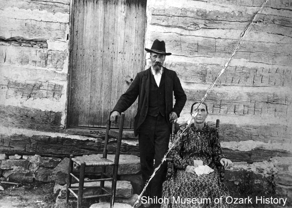 James and Ann Eliza Counts McDonald, Thorney (Madison County, Arkansas), about 1900