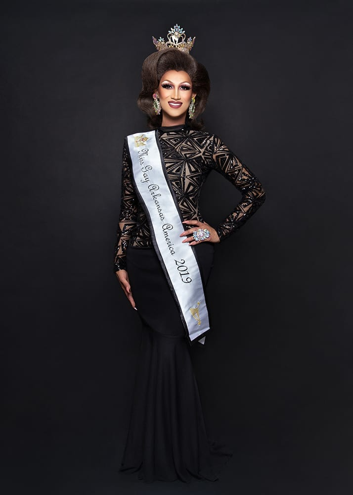 Iman DeMarco, Miss Gay Arkansas America 2019, Oklahoma City, Oklahoma, September 2019.