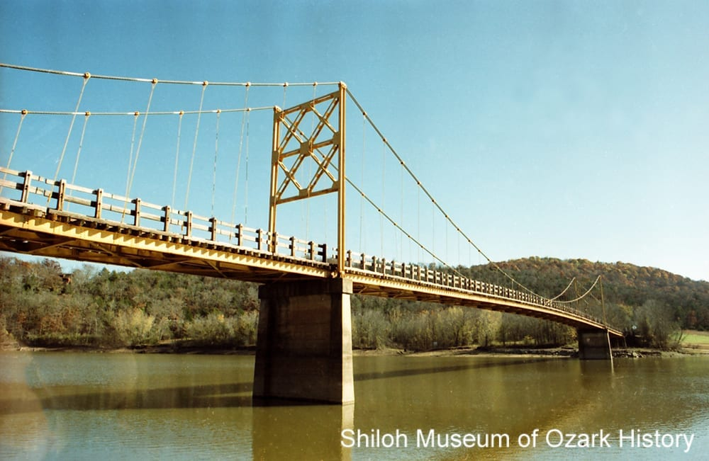 """Little Golden Gate"" bridge, White River, Beaver (Carroll County, Arkansas), November 6, 1994."