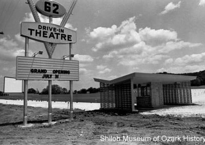62 Drive-In Theatre, Fayetteville, Arkansas,1969.