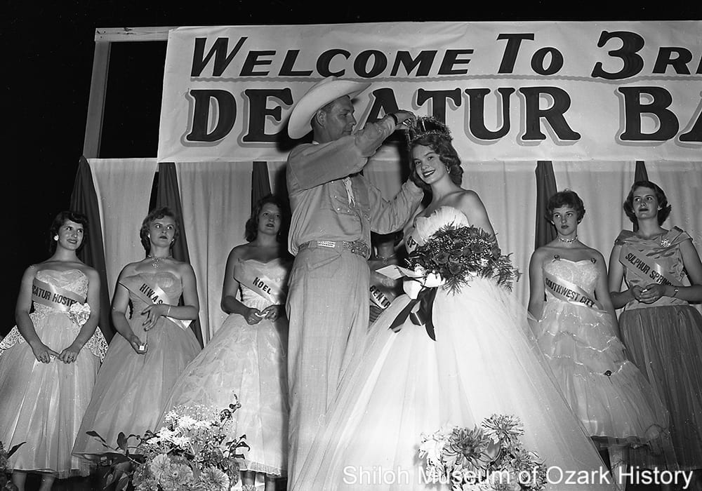 Judy Eoff, Miss Decatur Barbecue 1956, Decatur, Arkansas, August 2, 1956.