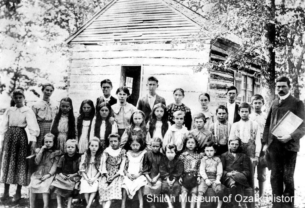 Black Oak School, near Elkins (Washington County, Arkansas), circa 1895.