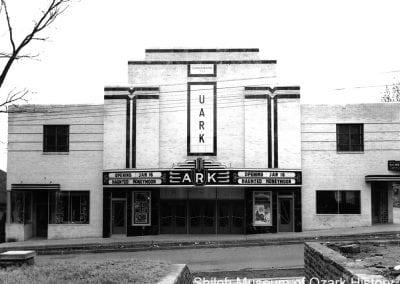 UArk Theatre, Fayetteville, Arkansas, January 1941.