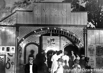 Lyric Theatre, Fayetteville, Arkansas, about 1915.