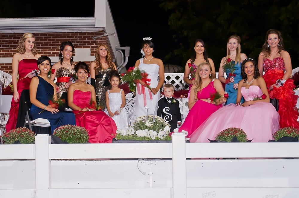 Danai Bahena (center), Springdale High School Homecoming Queen 2011, and her court, Springdale, Arkansas, October 16, 2011.