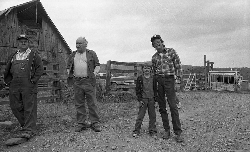Peter Fonda on the set of Fighting Mad, near Springdale, Arkansas, 1975