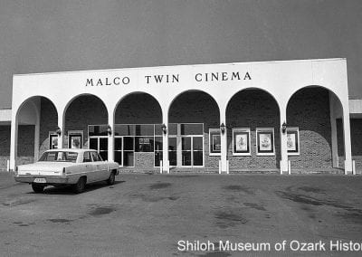 Malco Twin Cinema, Fayetteville, Arkansas, August 1970.