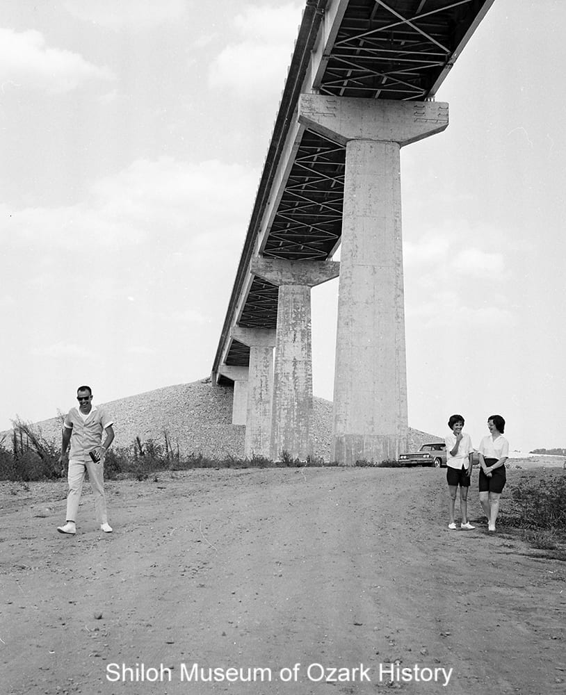 Highway 12 bridge near Rogers (Benton County, Arkansas), August 1964.