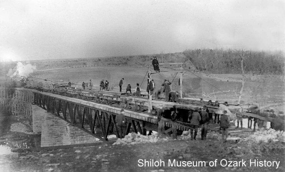 Deck truss bridge, St. Louis & North Arkansas Railroad, Kings River, Grandview (Carroll County, Arkansas), February 2, 1901.