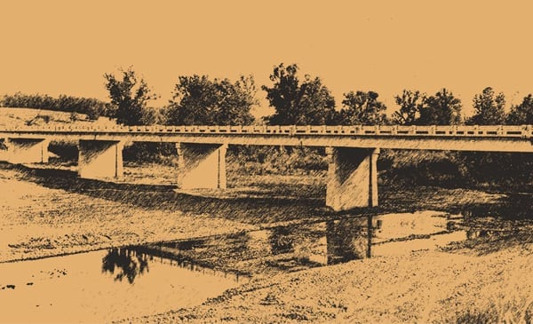 Girder bridge, Highway 68, Osage Creek (Carroll County, Arkansas), 1950s-1960s.