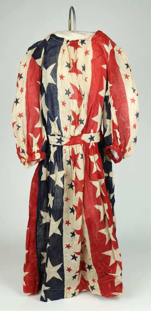 Red, white, and blue dress, circa 1910