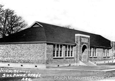 Sulphur Springs High School, Sulphur Springs (Benton County),Arkansas, circa 1941