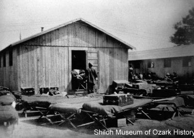 Barracks, Devil's Den CCC camp, 1930s.