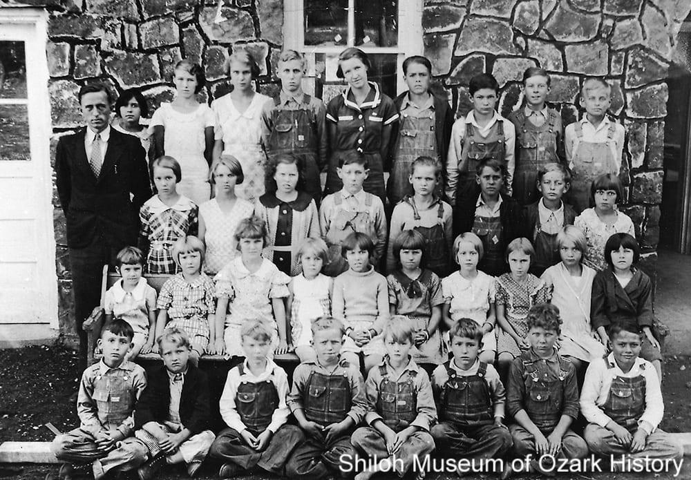 Spring Valley School students, Spring Valley (Washington County, Arkansas), 1935.