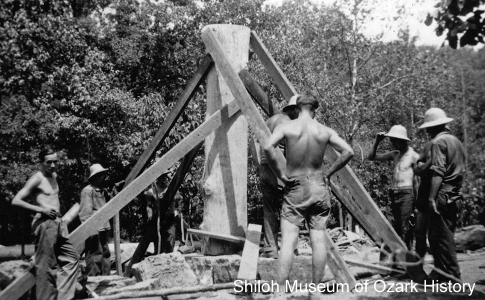 Workers at Devil's Den State Park, near Winslow (Washington County), Arkansas, 1934.