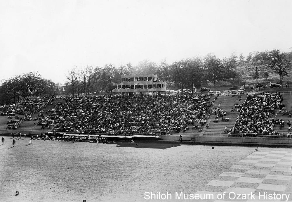Bailey Stadium, University of Arkansas, about 1940.